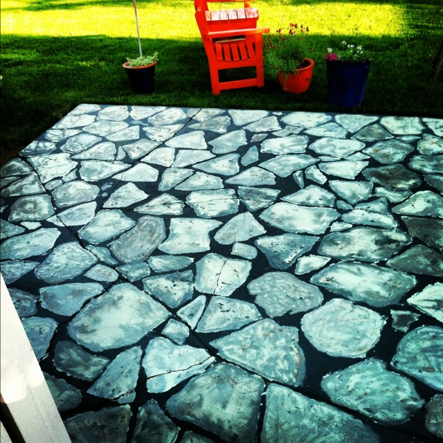17 Best Ideas About Paint Concrete On Pinterest: 27 Best Images About Painted Cement Patios And Walkways On