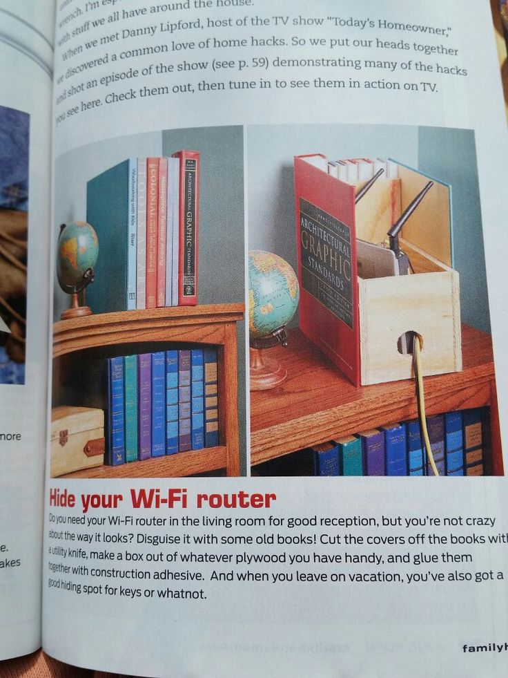 Hide your WIFI router (credit Family Handyman Magazine )