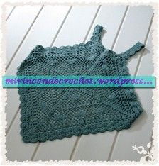 Very pretty top - with chart  « Mi Rincon de Crochet