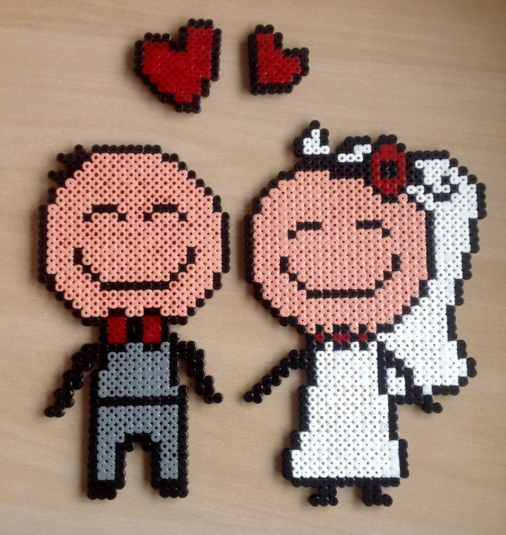 Wedding hama beads by Majken Skjølstrup