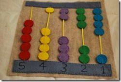 abacus quiet book page, no loose pieces