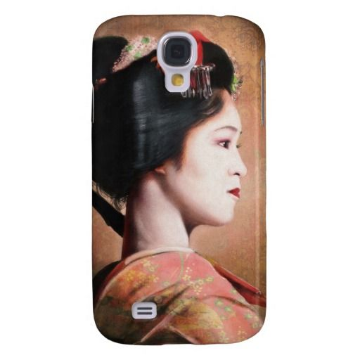 Portrait of beautiful Geisha digital painting Galaxy S4 Cover