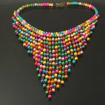 Collana alta moda colorata