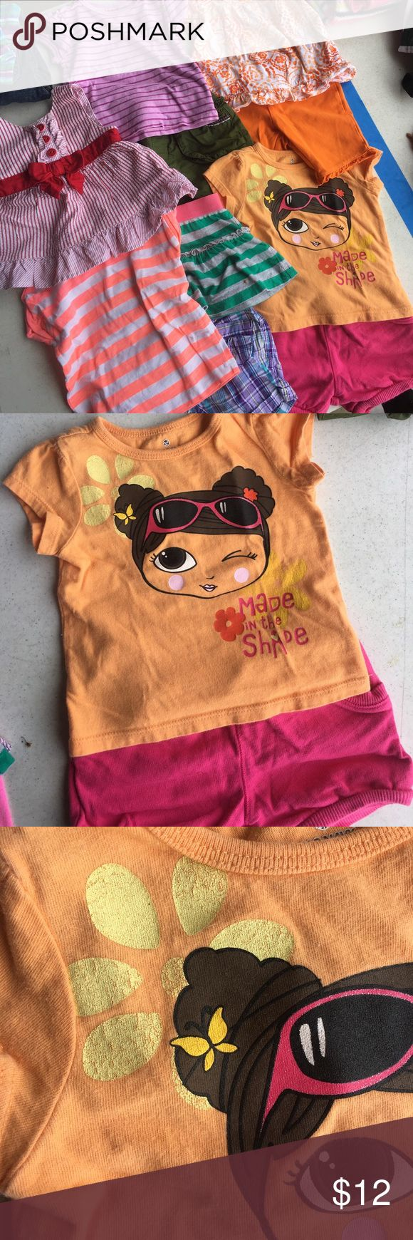 11 piece lot of girls size 6-9 month clothing. 10 piece lot of girls summer clothing. Size 6 months, 6-9 months and 6-12 months. Brands include: Carters, Children's Place, and Gymboree. Good used condition, any noticeable wear shown in photos. Children's Place Matching Sets