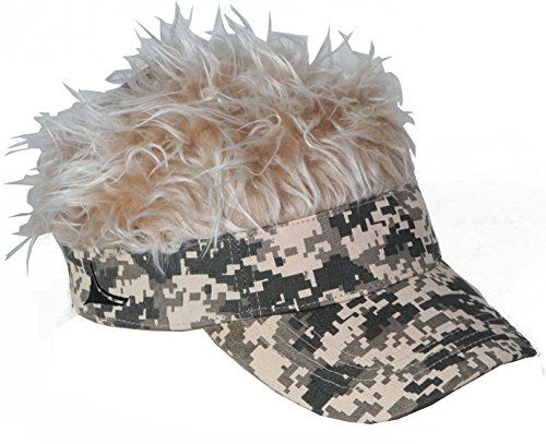 The comfortable, adjustable, visors with hair are great for golfing, fishing, riding your bike, hiking in the mountains and anything else you can think of. No matter where you go, our hats with hair ensure you will be the life of the party. Whether you want to sport the blonde colored hair you...