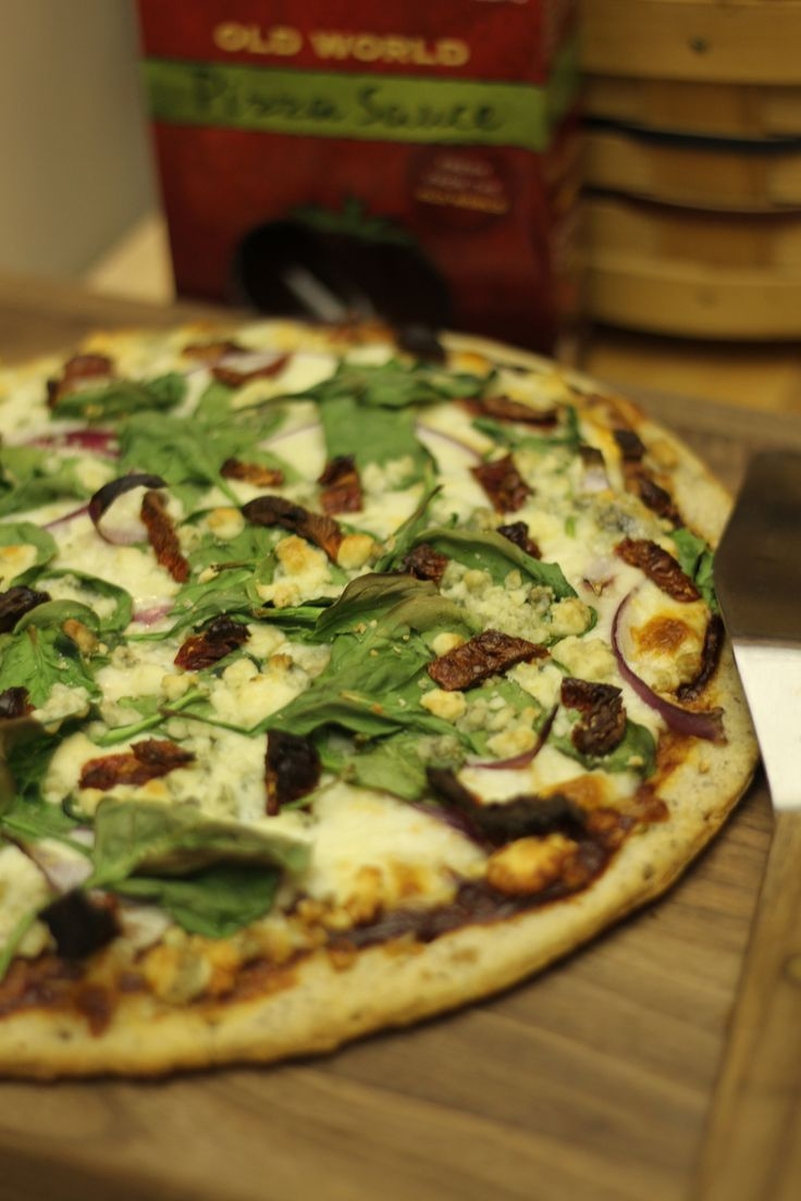Make your own pizzas for the #Superbowl - mozzarella, red onion, sun dried tomato, spinach... the toppings are endless!