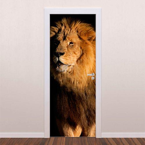 Adesivo decorativo para porta Leão é um adesivo ideal para decoração de portas. Decore sua casa com adesivos de porta e personalize seu ambiente. Decore ...
