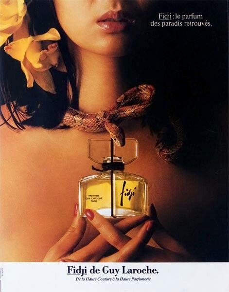 Fidji perfume advertising