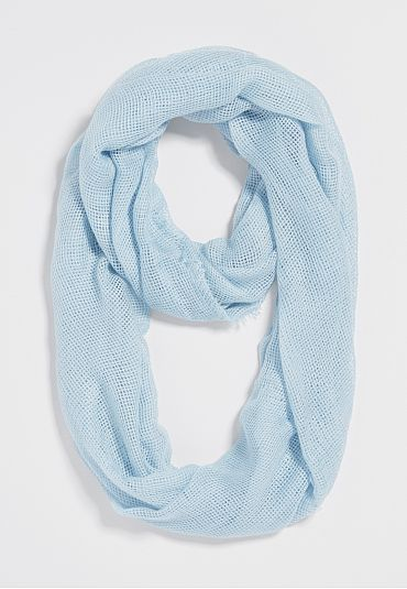 open weave infinity scarf in desert sky - maurices.com