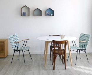 salle à manger, mademoiselle dimanche, ferm living, scandinave, made in france