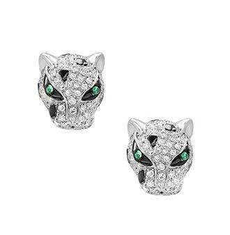 Effy® 14K White Gold Diamond And Tsavorite Earrings