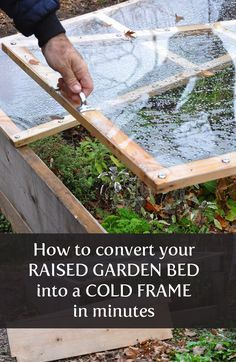 What an awesome trick! The secret to turning your raised garden bed into a cold frame---just in time for winter.