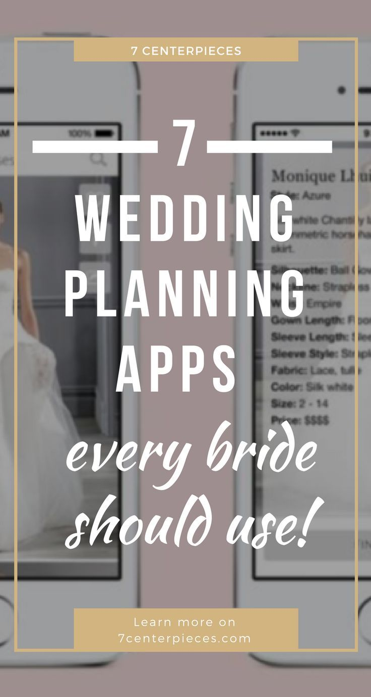 These wedding planning apps SAVED MY LIFE when I planned my wedding! I'm so happy I found this article full of apps with wedding planning tips! PIN IT NOW if you're losing your sanity planning a wedding! #wedding #weddingplanning