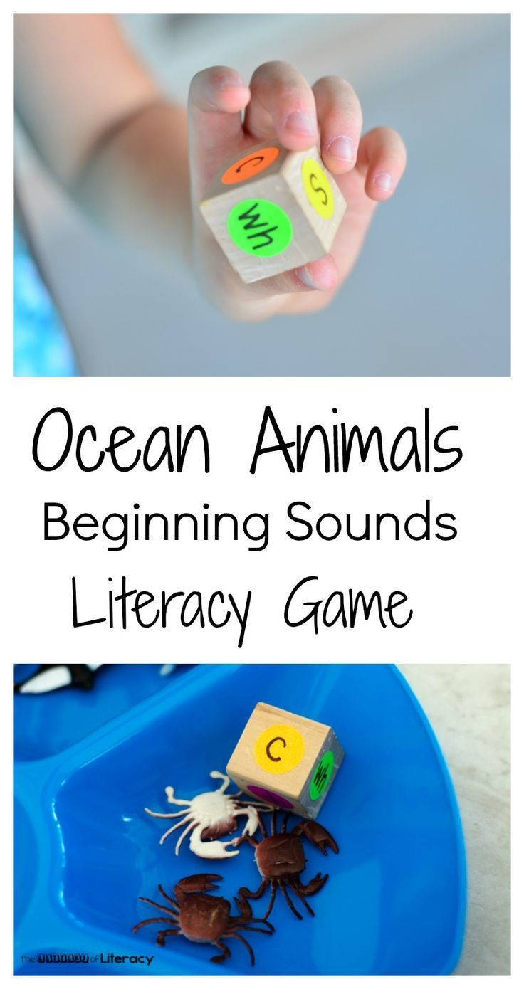 This ocean animal reading game is an alphabet activity great for an ocean theme or just for teaching children the basics of learning to read.