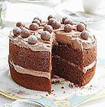 Mary Berry's malted chocolate cake recipe taken from Mary Berry's Absolute Favourites