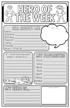 Have kids complete at b.o.y. and then choose a different kid each week to highlight. Helps build community. Print on 11x17 paper and enjoy! I am thinking i want to send this home as homework for students to complete with their parents since this is a lot of writing for B.O.Y. first graders.