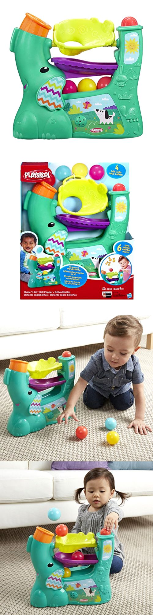 Playskool 2576: Chase N Go Ball Popper Playskool Teal Air Powered Interactive Toys For Toddlers -> BUY IT NOW ONLY: $30.18 on eBay!