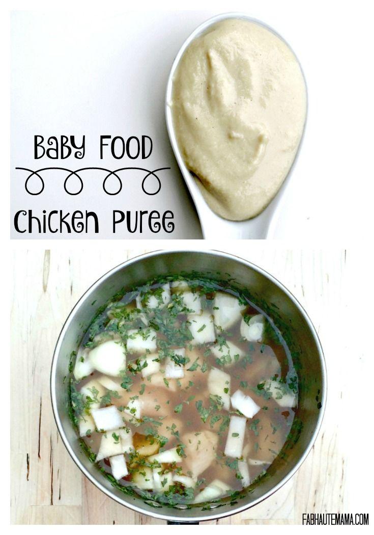 Chicken Baby Puree Recipe Ocean Baby Food Recipes Baby Puree