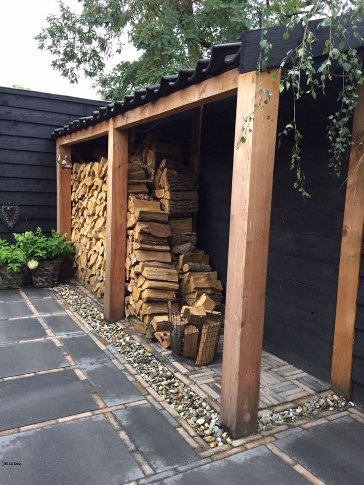 Beautiful, space saving wood store