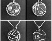 Sports Jewelry, Softball, Baseball, Basketball, Soccer, Volleyball, Tennis, Team Sports, Sterling Silver