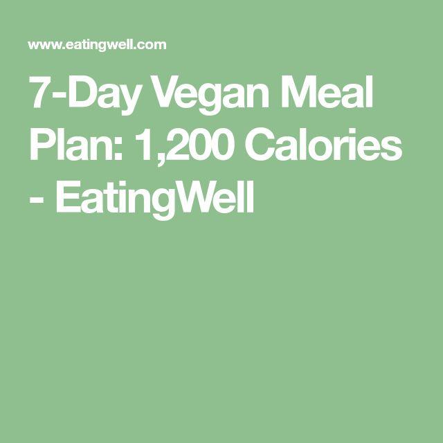 7-Day Vegan Meal Plan: 1,200 Calories - EatingWell