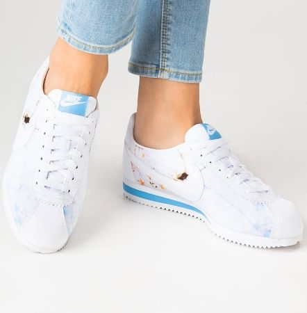 Nike Sportswear CLASSIC CORTEZ Tenisówki white/university blue