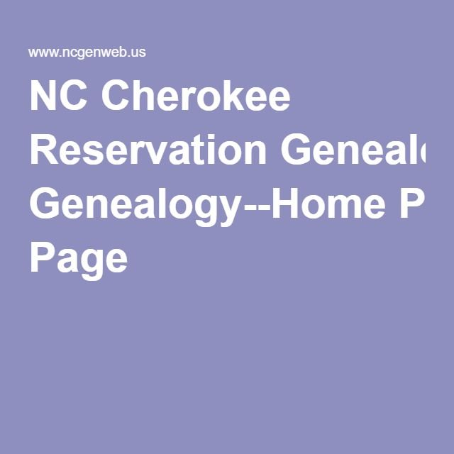 NORTH CAROLINA CHEROKEE RESERVATION, North Carolina - North Carolina GenWeb Project