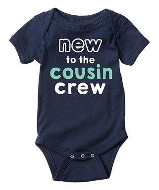 LC Trendz | Navy 'New to the Cousin Crew' Bodysuit - Infant