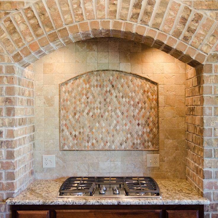 Custom Brick Vent Hood Beacon Kitchens Pinterest