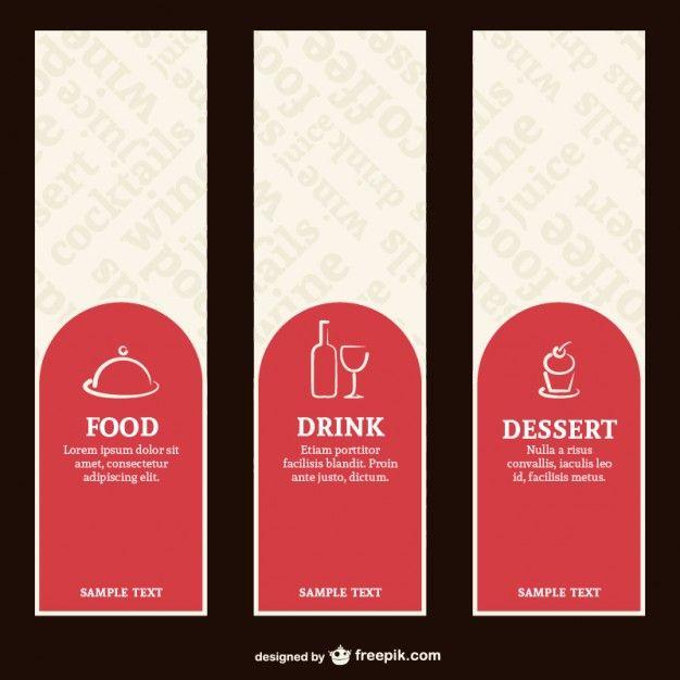 Éttermi menü címkék Free Vector