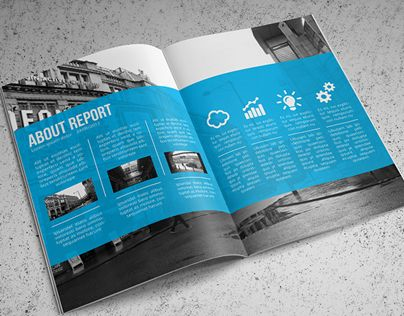 Hi! Thank you for your purchase!This wonderfully light - annual report template design