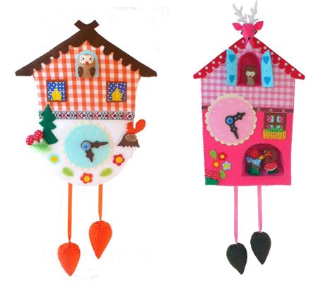 Cuckoo Design Clock #owl #Cuckoo #felt #clock