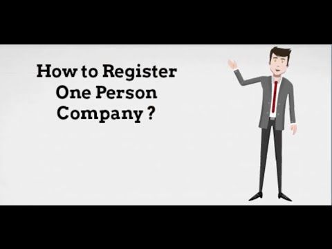 How to register One Person Company ?