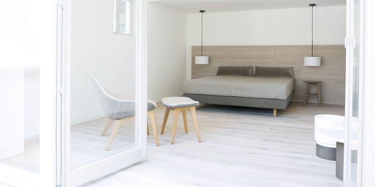 New for 2014! MIUT BASIC box sprung bed by Julia Fellner from Zeitraum with optional wooden panel system