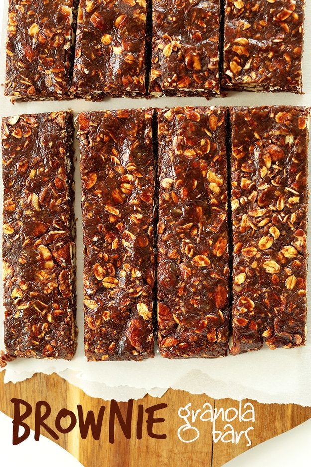 Healthy Brownie Granola Bars | 21 Healthier Snacks Your Kids Will Actually Want To Eat