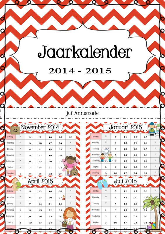 jaarkalender 2014-2015