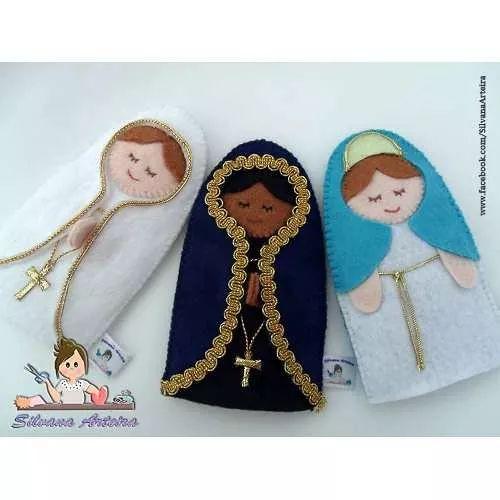Kit Porta Adoçante Nossa Senhora Em Feltro - R$ 48,90