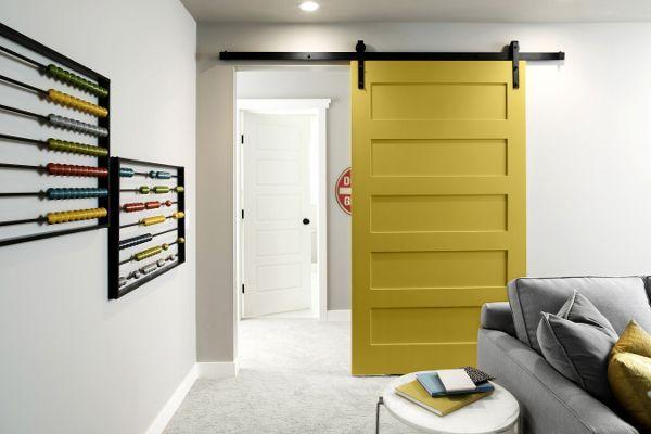 Kolekcja PFL 2014,przesuwne drzwi w dekorze SZAFRANOWY/ sliding door, saffron, collection 2014 (Pfleiderer)