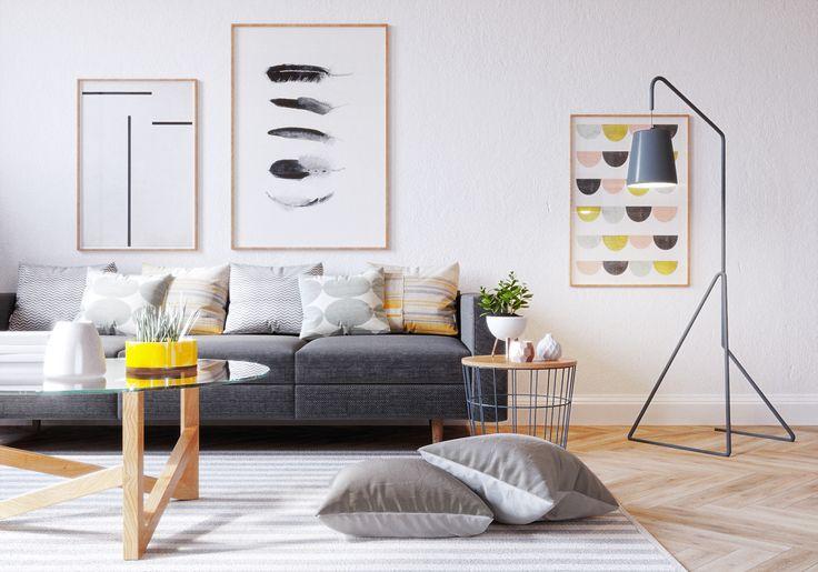 Scandinavi living room on Behance