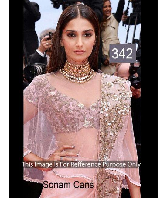 Bollywood Designer Konam Kapoor pink New Arrival Saree