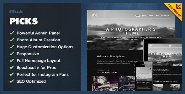 Picks - WordPress #Wordpress #Responsive Template - #html5 #css3 #jquery slider ready - Photography Creative