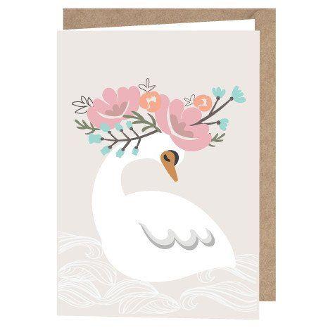 """A6 Lulu & Helina Greeting Card """"Kukkaisjoutsen"""""""