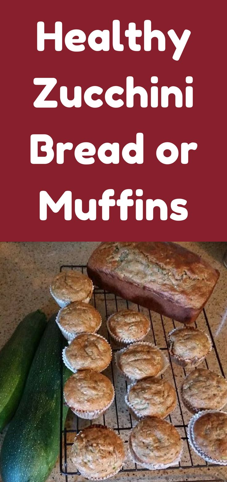 I posted a picture of the zucchini bread and muffins I made with zucchini from my garden.  So here is my version of healthy zucchini bread!