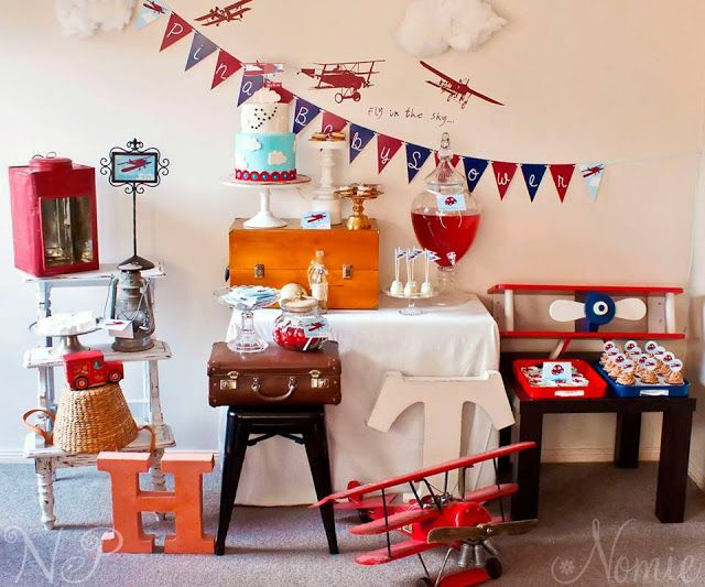Little Big Company | The Blog: A Perfect Plane + Automobiles Baby Shower by Naatje Patisserie Cupcakes & Cakes and Nomie Boutique Stationery
