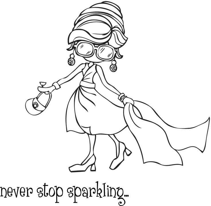 Stamping Bella - Unmounted Rubber Stamp - Addytude Loves To Sparkle