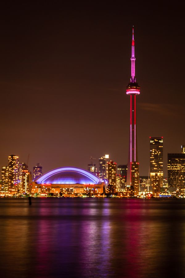 CN Tower at Night, Toronto, Canada http://wealthandluxury.yolasite.com/