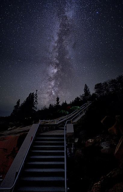 Stairway to heaven, Otter Creek, Maine, USA