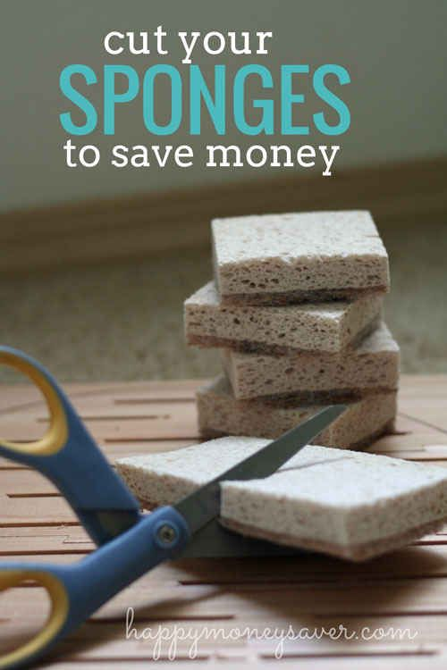 Cut your sponges in half. | 34 Ways To Make Your Stuff Last As Long As Possible