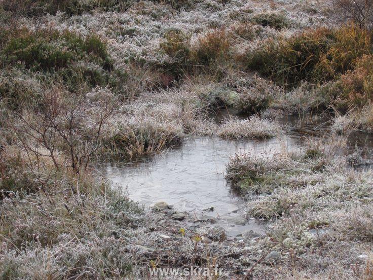 Trou d'eau gelé en Ecosse