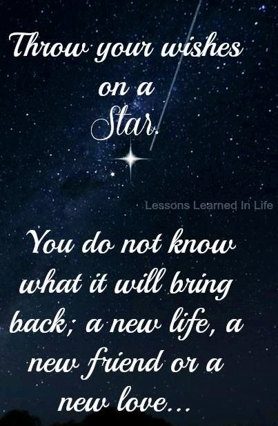 Great Throw Wishes On A Star Quote Via Www.Facebook.com/LessonsLearnedInLife